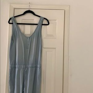 Anthropologie Chambray Jumpsuit